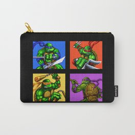 Turtle Pixel Carry-All Pouch