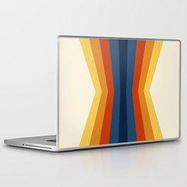 Bright 70's Retro Stripes Reflection Laptop & iPad Skin