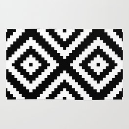 Tribal B&W Rug