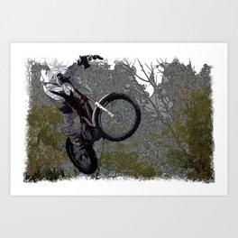 Off-roading - Motocross Racing Art Print