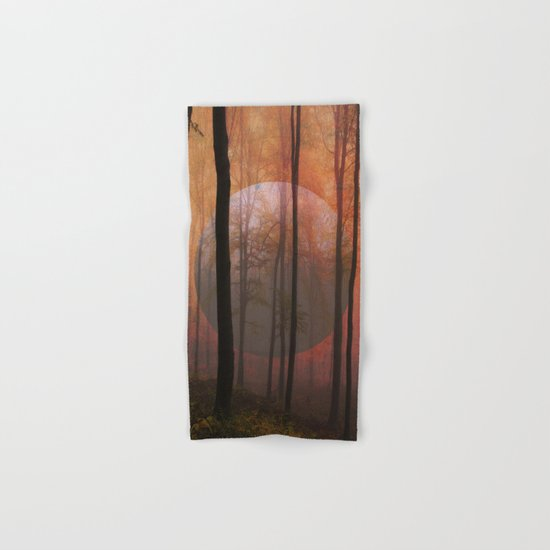 Not From Here, Surreal Forest Landscape Art Hand & Bath Towel