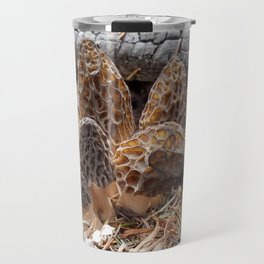 Morel Mushroom Clump Travel Mug