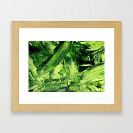 Green Mess Framed Art Print