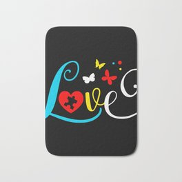 Autism Awareness Love Puzzle Autism Mom Bath Mat