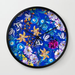 Surreal Floral Wall Clock