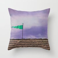 flag Throw Pillows featuring Flag by Maite Pons