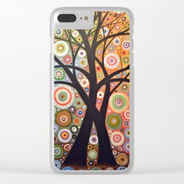 Abstract Art Landscape Original Painting ... Magic Garden Clear iPhone Case