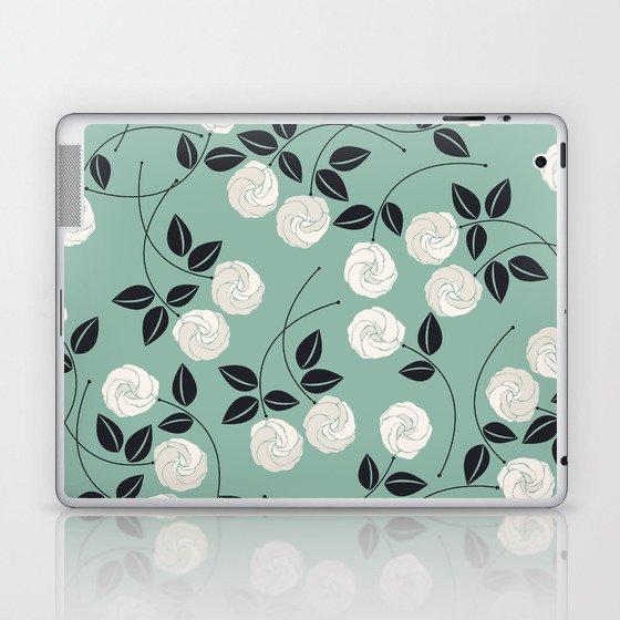 Pattern with white roses Laptop & iPad Skin