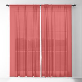 Bright red Sheer Curtain