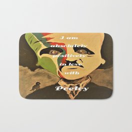 Poe, I am aboslutely, positively in love with Poetry Bath Mat