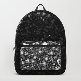 Black & Silver Glitter Gradient Backpack
