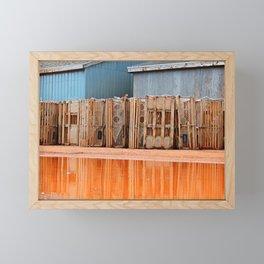Lobster Traps in Wait Framed Mini Art Print