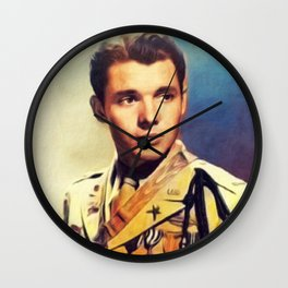 Audie Murphy, Actor an Hero Wall Clock