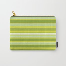 Stripes (Parallel Lines) - White Green Carry-All Pouch