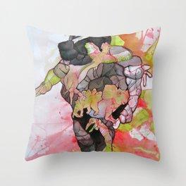 Dino-man Throw Pillow
