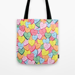 Candy Hearts Multicolour Tote Bag