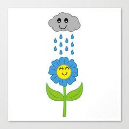 Happy Rain Canvas Print