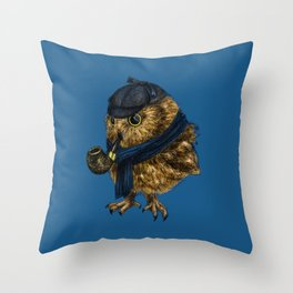 Sherlock // owl Throw Pillow