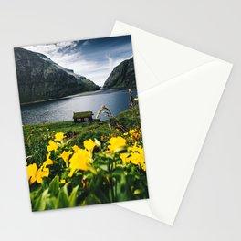 Cabin in Saksun - Faroe Islands Stationery Cards