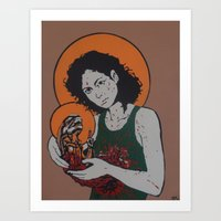 ripley Art Prints featuring holy ripley by Just Sprayed