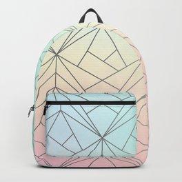 Geometric Silver Pattern on Pastel Gradient Backpack