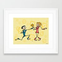 lovers Framed Art Prints featuring Lovers by Giuseppe Lentini