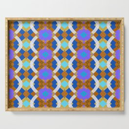 Modern Geometric Flux Trippy Quilt Boho Geometric Serving Tray