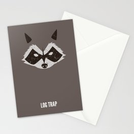 Rocket Raccoon - Log Trap Stationery Cards
