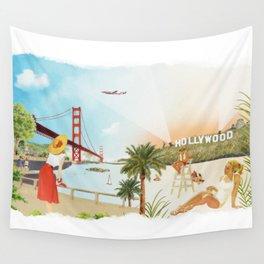 San Francisco + Los Angeles Wall Tapestry