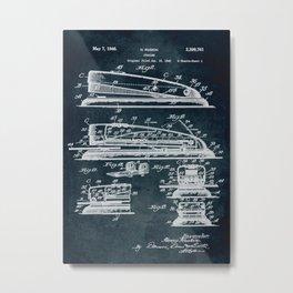 1940 Stapler patent art Metal Print