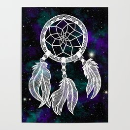 Galaxy Dreamcatcher Poster