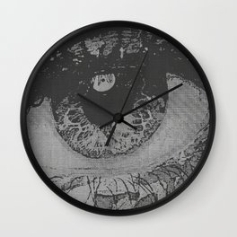 Gate To Her Soul - Silver Metal Pop-Art Wall Clock