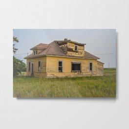 The Yellow House, Arena, North Dakota 4 Metal Print