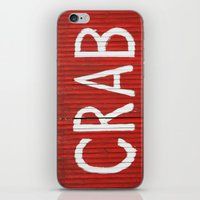 crab iPhone & iPod Skins featuring Crab by Shy Photog