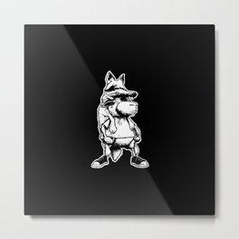 coyote and sheep Metal Print