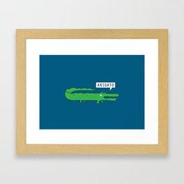 Arigator Framed Art Print