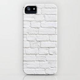 White Brick Wall iPhone Case