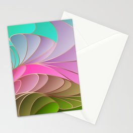 Pink Green Art Nouveau Stationery Cards