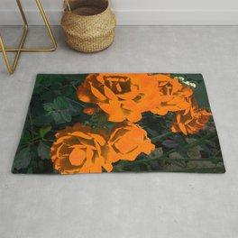 Vintage  Roses - Orange Rug