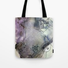 woman with critters Tote Bag