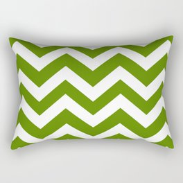 Avocado - green color - Zigzag Chevron Pattern Rectangular Pillow