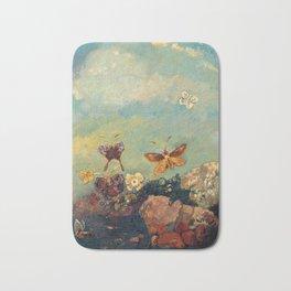 Butterfly Painting - Odilon Redon Bath Mat