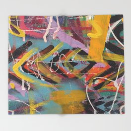 Graffiti Style Arrow Marking Making - Second in Series Throw Blanket