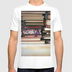 vintage pages Mens Fitted Tee White MEDIUM