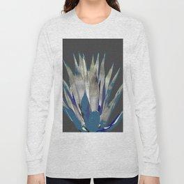 BLUE-GREY AGAVE DESERT CACTUS Long Sleeve T-shirt