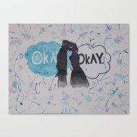 okay Canvas Prints featuring Okay.  by Oksana's Art
