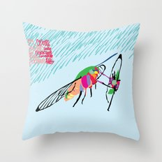 Bringing what I got [MOTH] [COLORS] [RAIN] [GIVEN] [GIVE] Throw Pillow