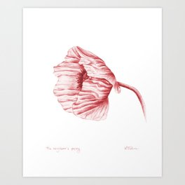 the neighbour's poppy - red Art Print