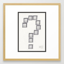 Question Framed Art Print