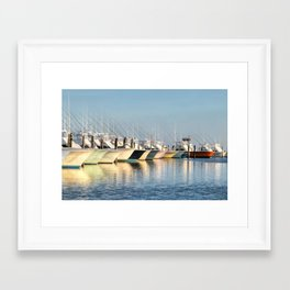 Outer Banks, Oregon Inlet Fishing Center, Fishing Boats Back Home for the Evening, OBX, NC Framed Art Print